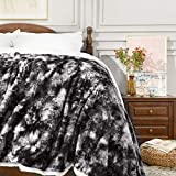 """Sagino Super Soft Faux Fur Throw Blanket Queen Size 90""""x90"""", Solid Reversible Sherpa Blankets - Lightweight Fluffy Cozy Plush Fleece Comfy Microfiber Blankets for Bed Couch Sofa, Gray"""