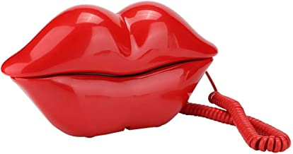 $25 » Vbestlife Red Lips Telephone for Novelty Interesting Gift, Sexy Mouth Lip Corded Landline Phone Desk Phone Home Furniture ...