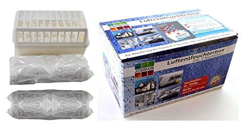 Luftentfeuchter Granulat (A) Vliesbeutel Raumentleuchter 1x Box + 2 x 1,2 kg Granulat Entfeuchter Nachfüllpack Bad Keller + 1 x gratis Reinigungstuch -VANI- 30 x 30 cm