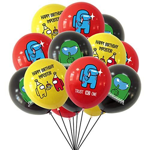Game Among Us Globos - YUESEN 30PCS A_mong Us Game Party Globos Supplies Set Anime Theme Cumpleaños Regalo Dcoration para Niños Festival Arte Artesanía