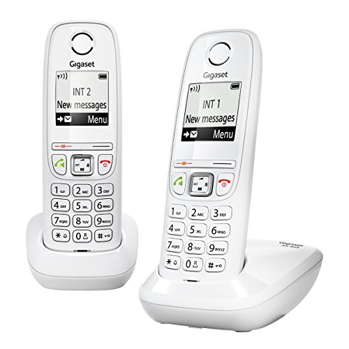 Gigaset AS405 Duo Telefono Cordless DECT/GAP, Bianco [Francia]