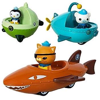 NEW 3 pcs Octonauts GUP R D C Boat Ship Model Octonauts Cartoon Figures Hot TV Toys Baby Gift