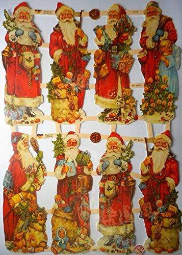 Weihnachten Weihnachtsmann EF 7379 Glanzbilder Oblate Posiebilder Scrapbook Deko GWI 445