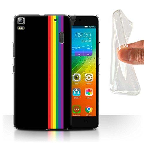 Hoes voor Lenovo K3 Note/K50-T5 LGBT Gay Pride kunst gelijkheidsstrepen design transparant dunne zachte siliconen gel/TPU bescherming telefoonhoes case