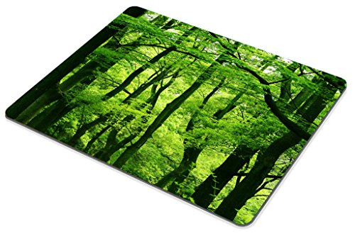 Smooffly Green Forest Mouse Pad,Tropical Rainforest Trees Mouse Pad,Beautiful Fresh Green Forest Personality Gaming Mouse Pad Photo #4