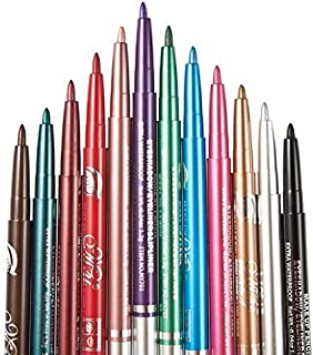12 PCS Colorful Eyebrow Pencil Eyeliner Eyebrow Lip Liner Pencil Pen Makeup Cosmetic Set Kit Tool