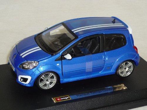 Bburago Renault Twingo RS Gordini Blau 2. Generation Ab 2007 18-22119 1/24 Modell Auto mit individiuellem Wunschkennzeichen