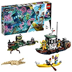 Features a cool, nautical-inspired boat that can split into two and floats on water, a haunted brick-built cliff and 4 minifigures Play out exciting ghost-hunting adventures that combine physical LEGO models with an interactive augmented reality play...