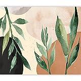 murando Fotomurales Hojas 150x105 cm XXL Papel pintado tejido no tejido Decoración de Pared decorativos Murales moderna Diseno Fotográfico Naturaleza Pradera Botánica como pintado b-A-0885-a-a