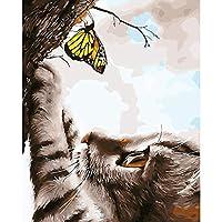 ジグソーパズル大人の子供パズル300ピース木製パズル猫の蝶ユニークなギフトと家の装飾ジグソーパズル