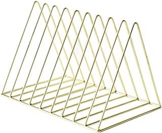 jbshop Bibliothèque Ouverte Bibliothèque en métal de Bureau, Support de Stockage Simple de Forme Triangulaire, approprié a...