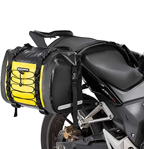ROCKBROSバイク サイドバッグ ツーリングバッグ 完全防水 各31L左右セット 取り付け簡単 バイク用 サドルバッグ 耐摩耗性 キャンプツーリング(イエロー)