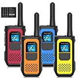 Walkie Talkies, NXGKET Walkie Talkies for Adults Long Range 4 Pack, 22 Channels Two-Way Radios FRS VOX, Walky Talky Rechargeable with Li-ion Battery USB Charger Auto Squelch for Biking Camping Hiking