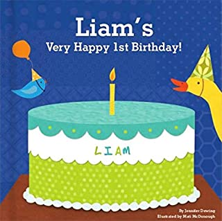 Baby`s 1st Birthday for Boys, Happy Birthday Baby, Personalized Book for Toddler