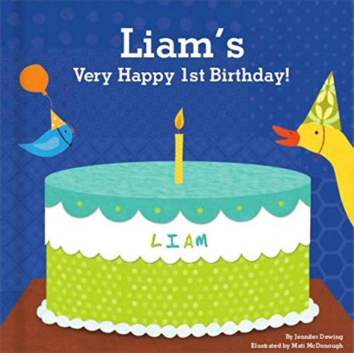 Baby's 1st Birthday for Boys, Happy Birthday Baby, Personalized Book for Toddler
