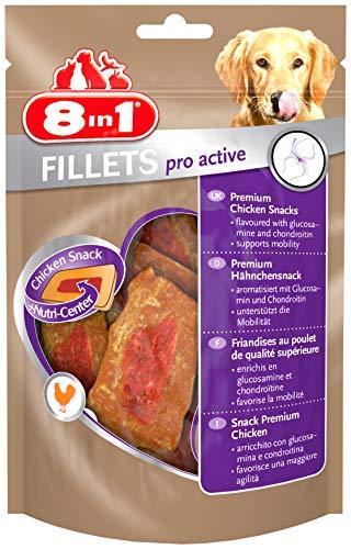 8in1 Fillets Pro Active Hähnchensnack, funktionale Leckerlies für Hunde, 1er Packs (1 x 80 g)
