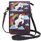 Lawenp Horses Wincorns Bolso bandolera pequeño de cuero con bloqueo RFID Cartera Monedero Bolsas de teléfono para viajes Chicas Mujeres