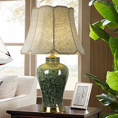 Vast keramiek retro bureaulamp, ijs Crushed Art slaapkamer bedlampje woonkamer lamp decoratief hotel slaapkamer lamp huis E27 verlichting 46 cm x 73 cm 208