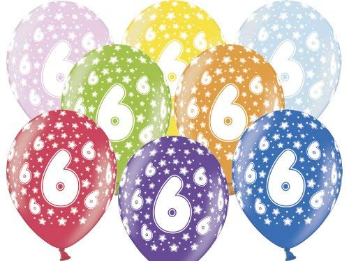 Luftballon 6.Geburtstag bunt gemischt Partydeko