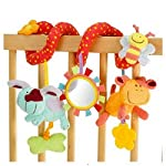 Stroller-and-Car-Seat-Toys-Activity-Spiral-Hanging-Toy-for-Crib-Cot-Pram-Stroller-and-More-Plush-Animals-Theme-with-Infant-Toys-Baby-Mirror-and-Rattles-for-Boys-and-Girls