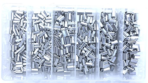 Catch All Tackle Mini Aluminium Oval zudrücken Kit 1001.1,1.3,1.5,1.7,2.0,2.2mm