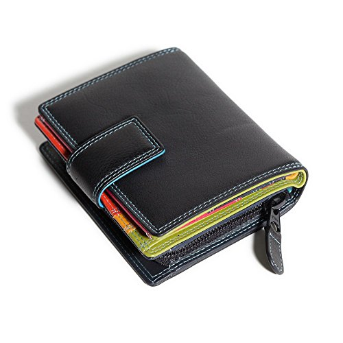 Viva Ladies Nice Leather Wallet/Purse (black tropical)