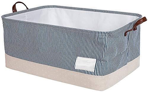 GONGMICF Wäschekorb mit Deckel, Faltbarer Wäschekorb groä mit Griffen Leinen Aufbewahrungskorb mit Deckel Haltbarer Wäschesammler wasserdichtes Inneres Wäschekorb mit Leinen Henkel Laundry Basket B,a