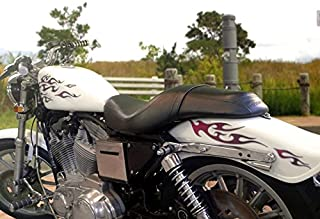No. 18 - Black Cherry with Smoke Pinstripe -18pc - Tribal Flame decals for Motorcycle tank, fenders, helmet