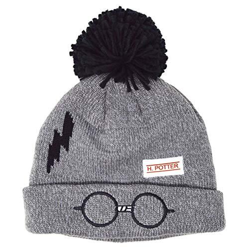 Harry Potter - Berretto invernale per bambini, motivo: cicatrice Grigio mlange 3-6 Anni