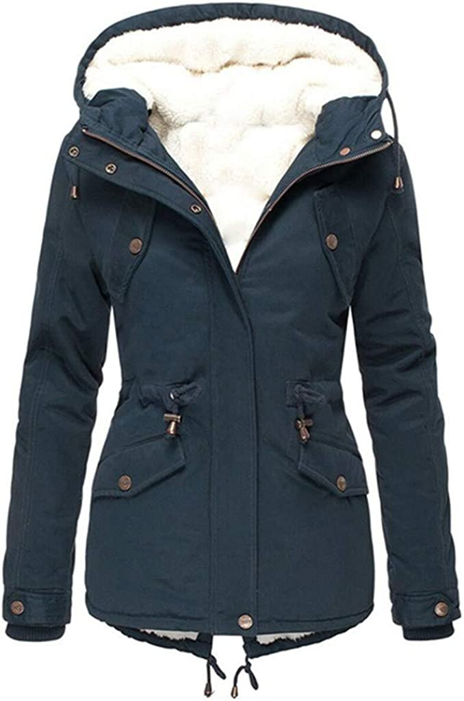 Winter Jacket, Water Repellent & Breathable,〓FEISI22〓 Women's Raincoat Outdoor Hooded Rain Jacket Windbreaker