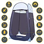"""Leader Accessories Pop Up Shower Tent Dressing Changing Tent Pod Toilet Tent 4' x 4' x 78""""(H) Big Size 7"""