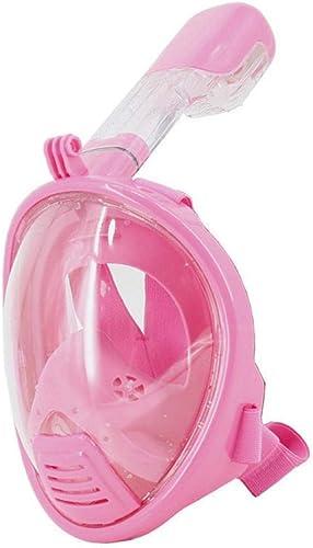 MHP Masques de plongée,Masque Snorkeling Plein Visage 180° Visible,Masque de plongée Sec Complet pour Hommes et Femmes