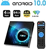 Android TV Box 10.0,HOMI T95 Android Box 4GB RAM 32GB ROM Allwinner H616 Quad-Core Soporte 6K 3D 2.4/5.0GHz WiFi 10/100M Ethernet DLNA HDMI 2.0 BT 5.0 Smart TV Box