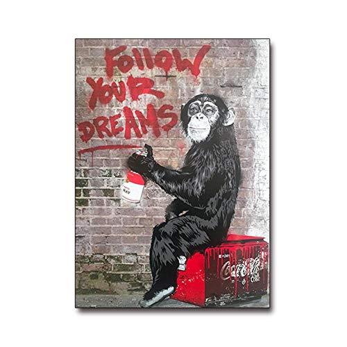 Impresión en lienzo mono modular lienzo pintura carteles impresiones arte de la pared calle Graffiti imagen sala de estar decoración del hogar 40x60 cm sin marco
