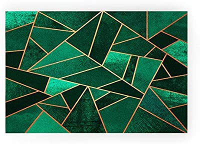 """Society6 Elisabeth Fredriksson Emerald and Copper Welcome Mat, 30""""x20"""", Green"""