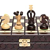 Individually Handcrafted: Sycamore chessmen come with felt bottoms; King: 2.8 inches (7.2 centimeters); Queen: 2 inches (5 centimeters); Pawn: 1.25 inches (3.2 centimeters) Pyrography Textured Design: Beech and birch wood board is decorated through a...