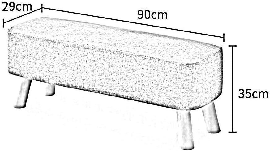 YUMUO Tabouret Tabouret Housse en Lin Détachable Simple Salon Moderne Canapé Banc Chambre Repose-Pieds Repose-Pieds (Couleur: # 1, Taille: 60cm) 6