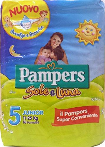 8 x PAMPERS Pannol.Bim.Sole&Mond Junior 11-25 kg Größe 5 16 Stück