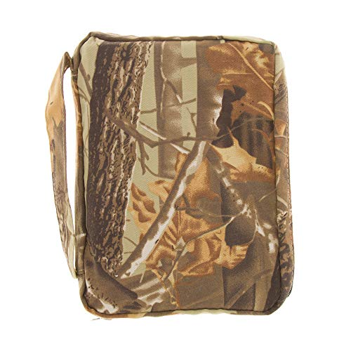Good Ruby Compact Bible Cover with Carrying Handle, Book Protector with Pocket Camouflage Bible Carrying Case with Zipper and Pen Holder for Men, Boys, Males, Women, Teens, Girls, Females (Camo)