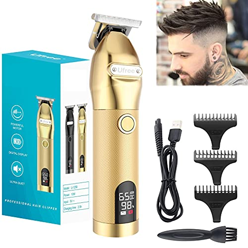 T Outline Clippers Trimmer Outlining Trimmer T Blade Trimmer T Liners Clippers Zero Gapped Trimmers Outline Trimmer(Gold)