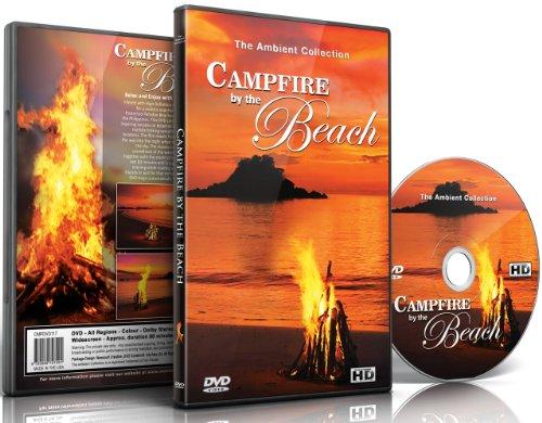 DVD Détente - Feu de Camp Sur La Plage avec sons de la mer et feu crépitant