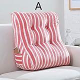 Bed Head Cintura Grande del Respaldo Lavable Triángulo cojín del sofá Cama Blanda Oficina del Bolso de Almohada Lumbar (Color: A, Tamaño: L) Hslywan (Color : A, Size : Small)