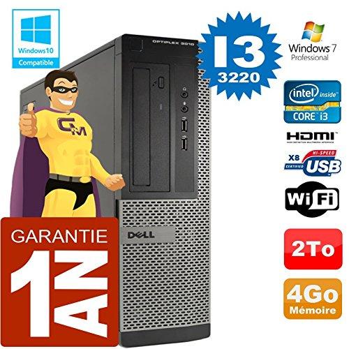 Ordenador Dell 3010 DT Core I3-3220 RAM 4 GB disco 2 a Wifi W7 (certificado y revisado)