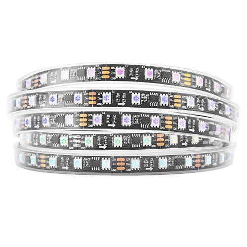 BTF-LIGHTING WS2811 5M 60 LEDs/m 300LEDs RGB DC12V Schwarz PCB Streifen mit 5050 SMD LEDs Wasserdicht in Rohr IP67