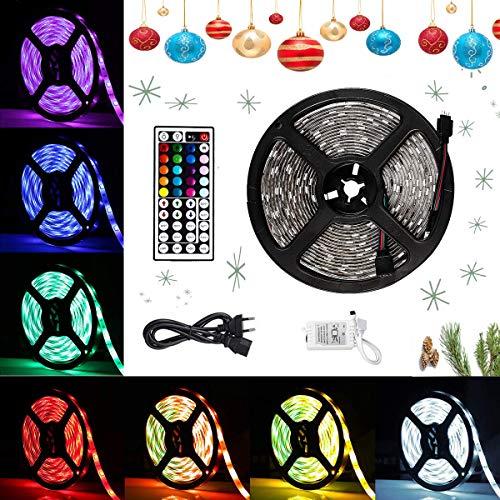 Lychee Tira LED decoracion 5M 5050RGB con 300 LED,Control Remoto de 44...