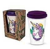 Ecoware Unicorn Reusable Coffee Travel Mug de Deluxebase. Hecho con los materiales de bambú y bio-basados.