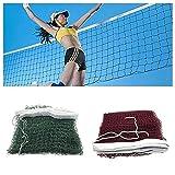 5X Rete da badminton standard, rete da badminton intrecciata con maglie quadrate da allenamento professionale, rete da pallavolo da esterno da 6,1 m X 0,76 m Rete da pallavolo per interni o esterni