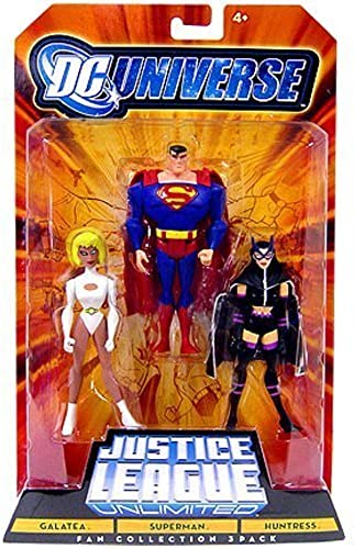 DC Universe CHLD JLU -Galatea,Superman, Huntress by Mattel