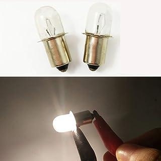 10x P13.5S 3.6V / 0.75A 2.7W Indicator Flashlight KPR Bulb Torch Flanged Headlight Lantern Lamp Replacement Working Tools
