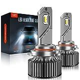 9005/HB3/H10 LED Headlight Bulbs, LAWTOOLIGHT 2-Pack LED Headlight Bulb, High Low Beam Fog Light, 12000LM 80W 300% Brighter LED Headlight Conversion Kit, 6500K Cool White, Halogen Replacement